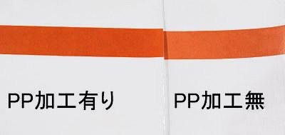 PPラミネート加工の比較