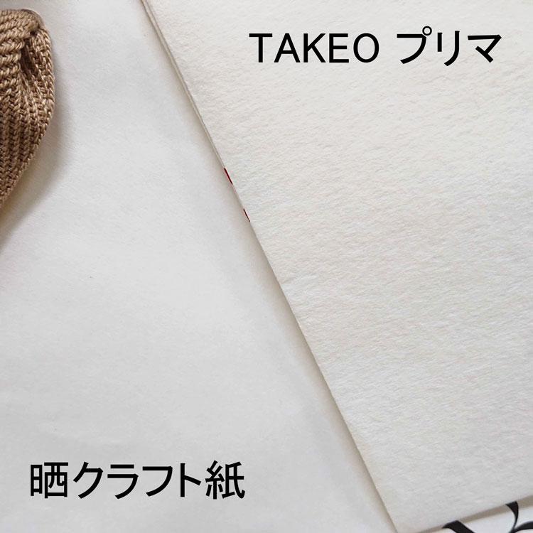 オリジナル紙袋 晒クラフト紙とタケオプリマの比較