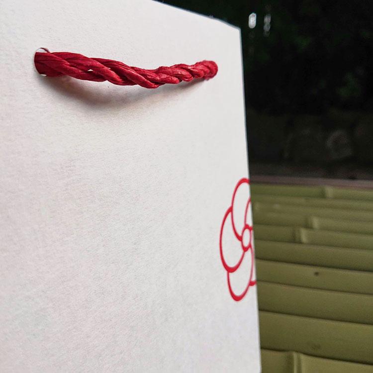 オリジナル紙袋 紙三本紐