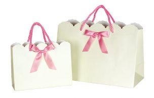 リボン付き紙袋 キュートリボンバッグ