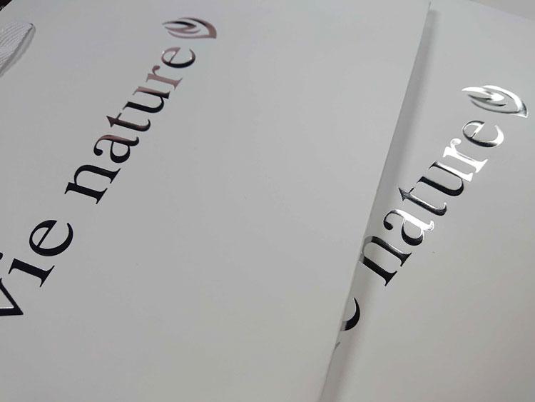 銀の箔押し印刷