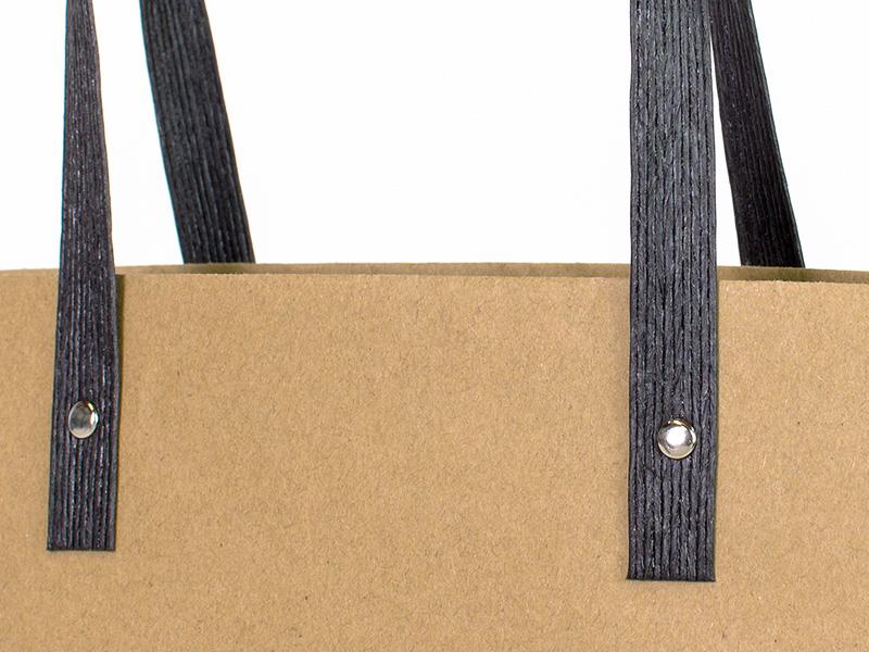船底クラフト紙袋のハンドルは紙バンド