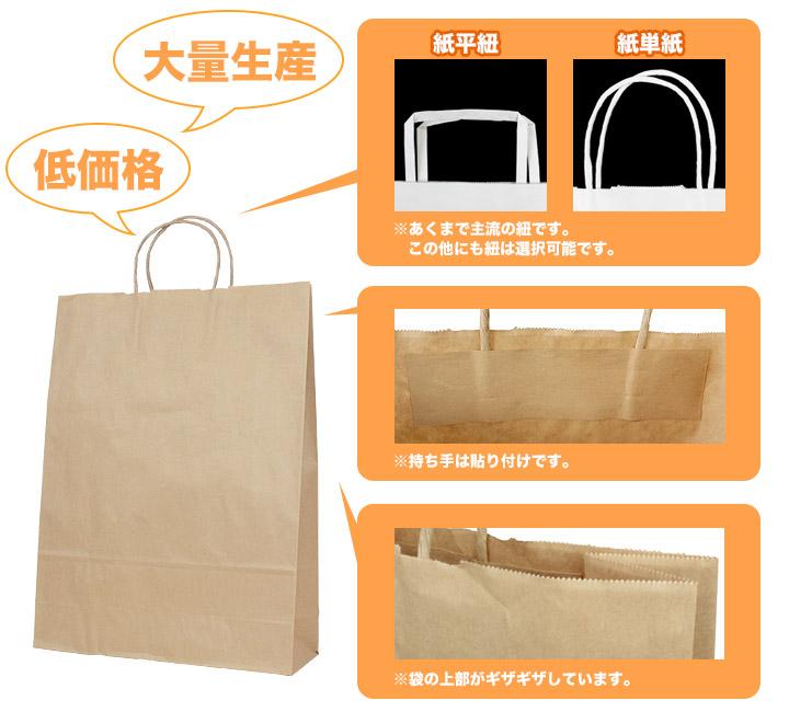 大ロット激安プラン(フレキソ自動製袋)紙袋