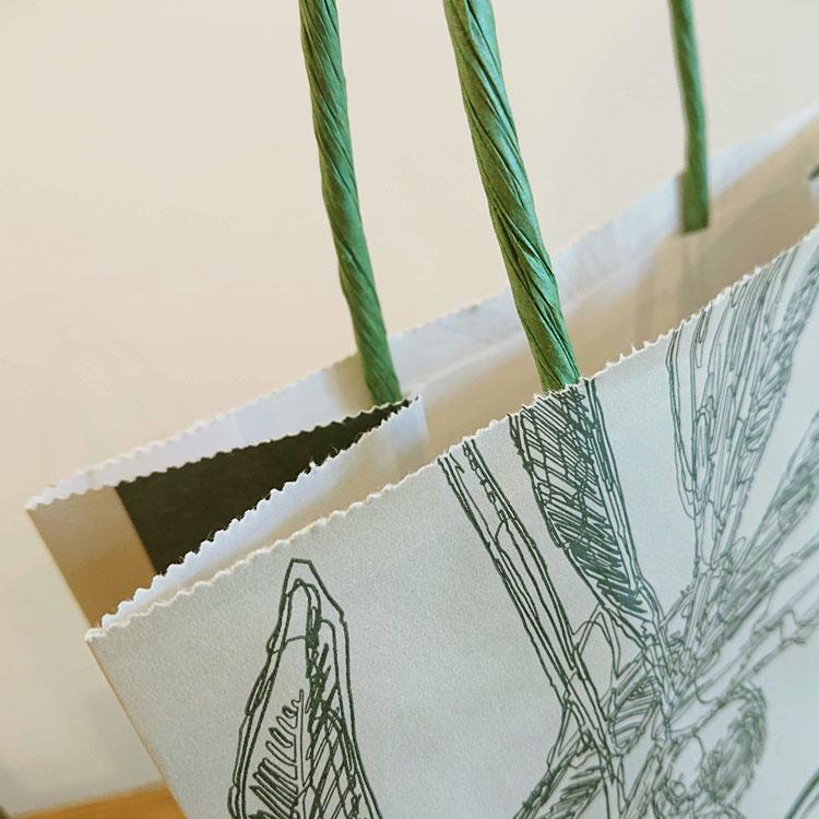 オリジナル紙袋 ギザギザカット