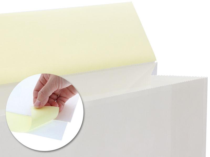 ベロ部分にテープ付きの梱包が簡単な宅配紙袋