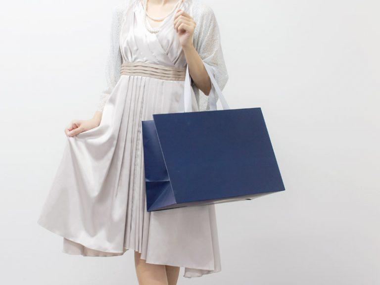 紙袋販売netオリジナル商品の中でも不動の人気を誇るブライダル紙袋シリーズは50枚からご注文可能