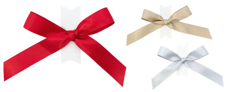 紙袋販売netオリジナル商品の、紙袋専用リボン留めアイテム