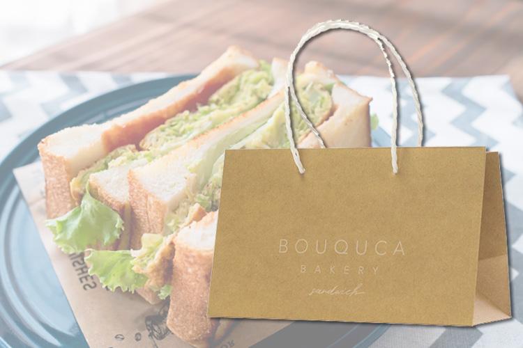 サンドイッチ用のテイクアウト紙袋