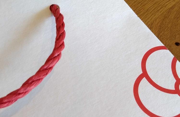オリジナル紙袋の用紙は特殊紙「TAKEO プリマ(白)130kg」を使用しています。