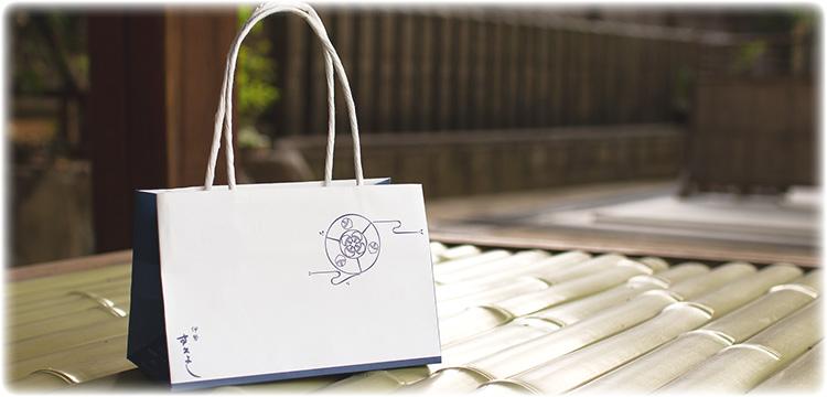 和風のオリジナル紙袋